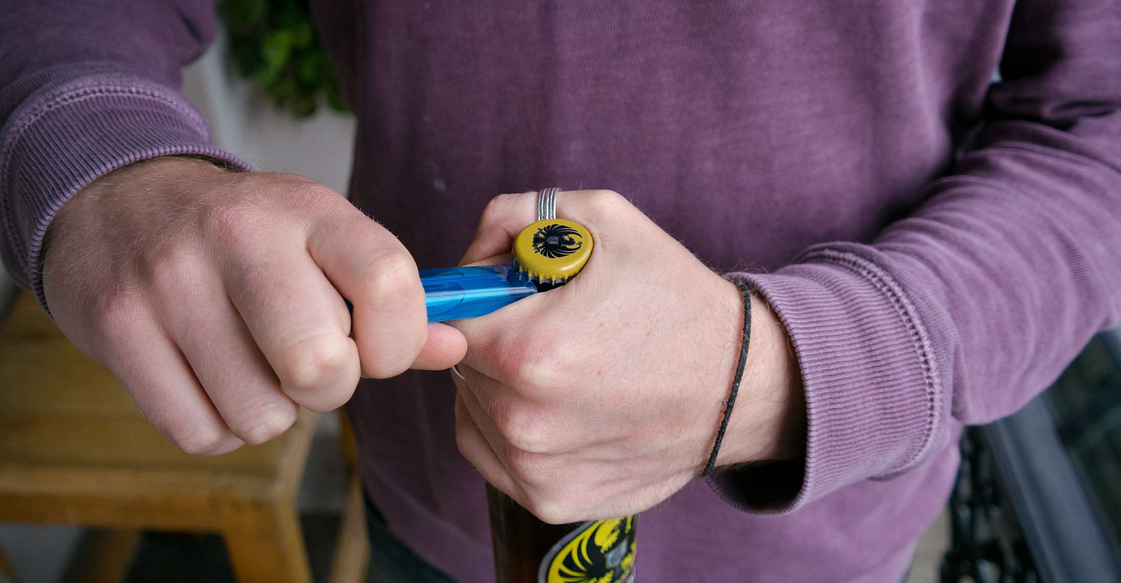 Quick Tricks – Opening a bottle with a lighter